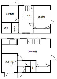 [テラスハウス] 北海道札幌市白石区北郷二条14丁目 の賃貸【/】の間取り