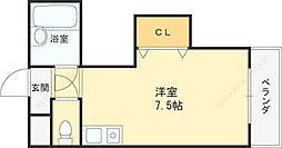ダゼアマンション 8階ワンルームの間取り