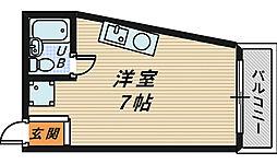 大阪府堺市北区百舌鳥西之町1丁の賃貸マンションの間取り