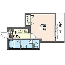 仮)新宿区中落合2丁目SHM 2階1Kの間取り