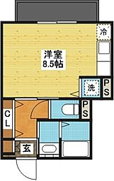 コーポMONNOKi[2階]の間取り