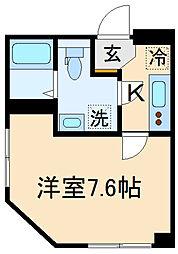 (仮称)世田谷区千歳台3丁目計画 4階1Kの間取り
