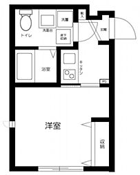 JR中央線 三鷹駅 徒歩12分の賃貸アパート 1階1Kの間取り