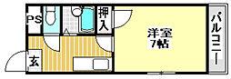 JR東海道・山陽本線 JR総持寺駅 3.2kmの賃貸アパート 1階ワンルームの間取り