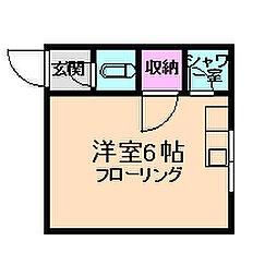 蛍ビルB棟[2階]の間取り