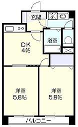 ファーストクラス荏田[6階]の間取り