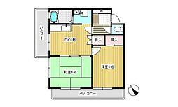 栗原マンション[2F号室]の間取り