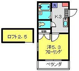 CASA FELICE HOSHIKAWA[203号室]の間取り