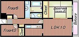 プラムガーデンハイツ[3階]の間取り