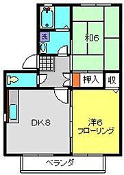 アビタシオン筑池A[203号室]の間取り