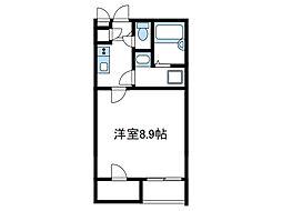 JR相模線 原当麻駅 徒歩6分の賃貸アパート 1階1Kの間取り