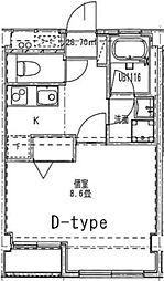 リヴェール弘明寺[406号室]の間取り