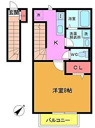 MYU東船橋[2階]の間取り