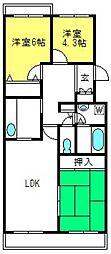 戸山ハウス[304号室]の間取り