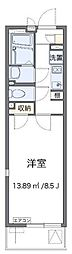 JR横浜線 八王子みなみ野駅 徒歩14分の賃貸アパート 2階1Kの間取り