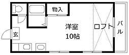 福岡県福岡市早良区野芥7丁目の賃貸アパートの間取り
