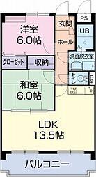 愛知県春日井市小野町5丁目の賃貸マンションの間取り