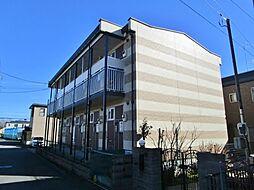 東京都日野市万願寺6の賃貸アパートの外観