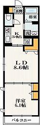 小田急小田原線 代々木上原駅 徒歩3分の賃貸アパート 1階1LDKの間取り