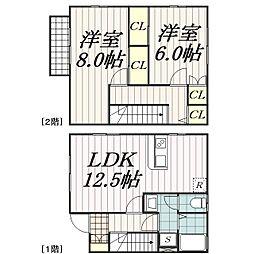 [タウンハウス] 千葉県千葉市中央区都町1丁目 の賃貸【/】の間取り