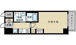 エステムコート新大阪リンクス 7階1Kの間取り
