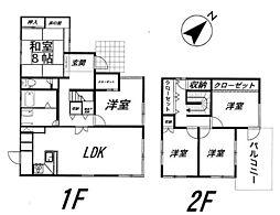 [一戸建] 福岡県福岡市東区みどりが丘2丁目 の賃貸【/】の間取り
