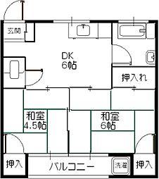 第2福美荘[203号室]の間取り