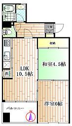 東京都杉並区阿佐谷南3丁目の賃貸マンションの間取り