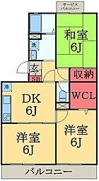 千葉県千葉市中央区塩田町の賃貸アパートの間取り
