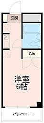 クレスト多摩川[4階]の間取り