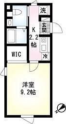 (仮称)翠川ビル新築工事 2階1Kの間取り