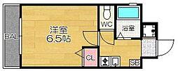 オネスト県庁前[402号室]の間取り