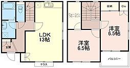 [テラスハウス] 東京都稲城市矢野口 の賃貸【/】の間取り