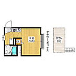 東京都豊島区要町3丁目の賃貸アパートの間取り