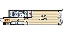 大阪府堺市堺区南旅篭町西2丁の賃貸マンションの間取り