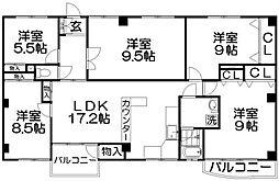 香里ニューハイツNO2[1階]の間取り