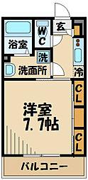 JR中央線 日野駅 徒歩13分の賃貸アパート 2階1Kの間取り