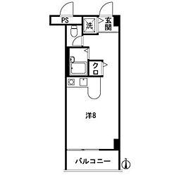 ドルチェ平尾[203号室]の間取り