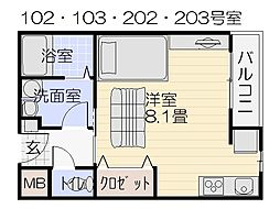 シトラスコート[1階]の間取り