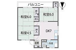 第1長尾団地[5階]の間取り