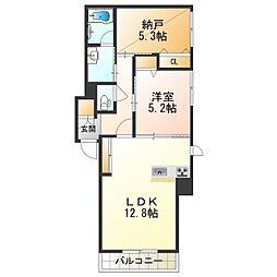 (仮称)堺市・北区シャーメゾン金岡町計画 3階1SLDKの間取り