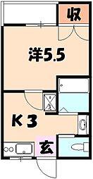 第5コーポふじ[3階]の間取り