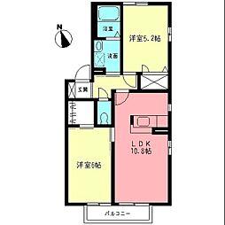 シャトル湘南III[2階]の間取り