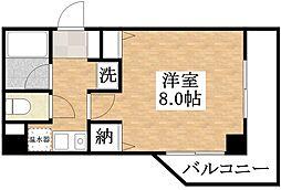 JR関西本線 平野駅 徒歩8分の賃貸マンション 3階1Kの間取り