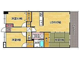 リファレンス寺塚[4階]の間取り