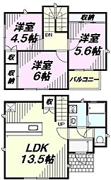 [一戸建] 埼玉県所沢市北所沢町 の賃貸【/】の間取り