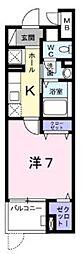 多摩都市モノレール 大塚・帝京大学駅 徒歩5分の賃貸マンション 2階1Kの間取り