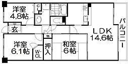 ステイツ枚方香里ケ丘七丁目[4階]の間取り