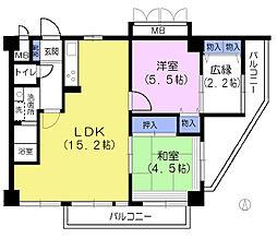 東京都練馬区石神井台6丁目の賃貸マンションの間取り