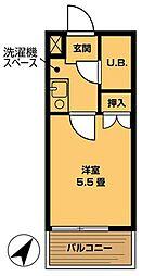 キャトルセゾン相模原[2階]の間取り
